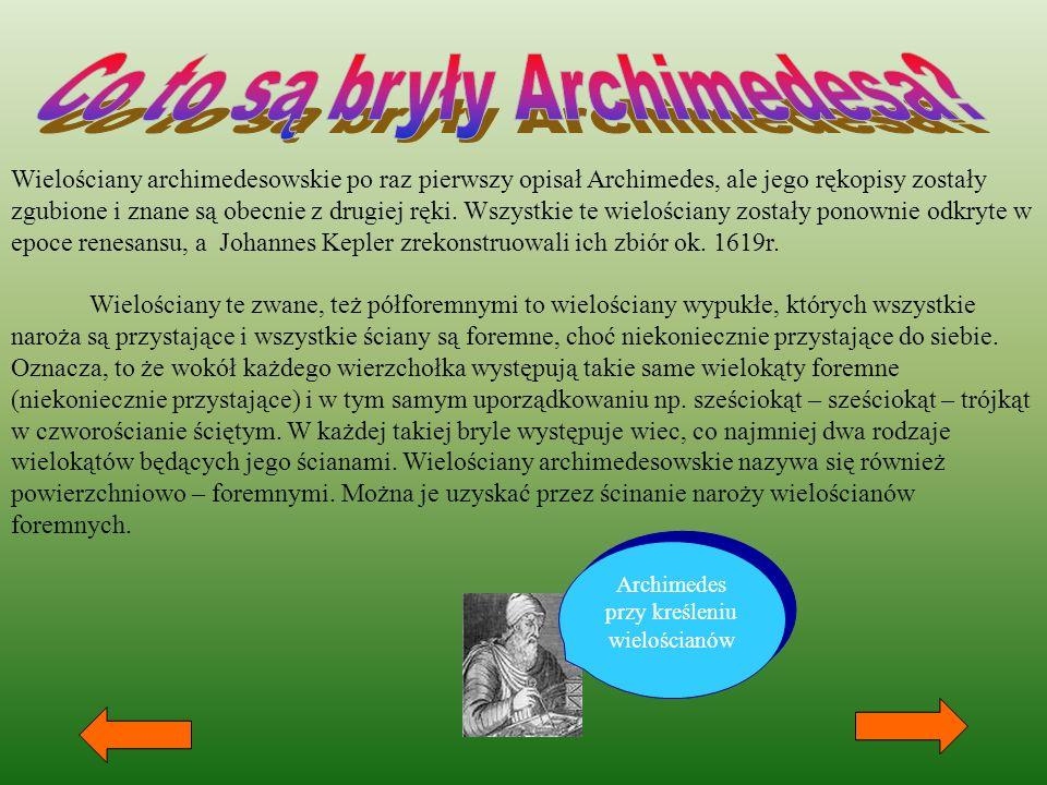 Co to są bryły Archimedesa