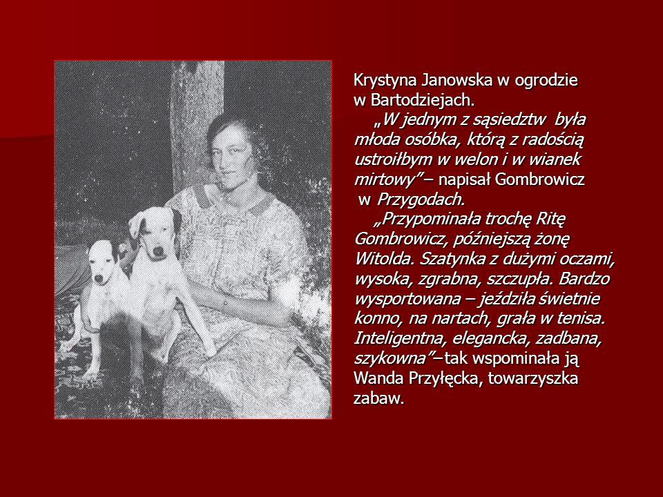 Krystyna Janowska w ogrodzie w Bartodziejach.
