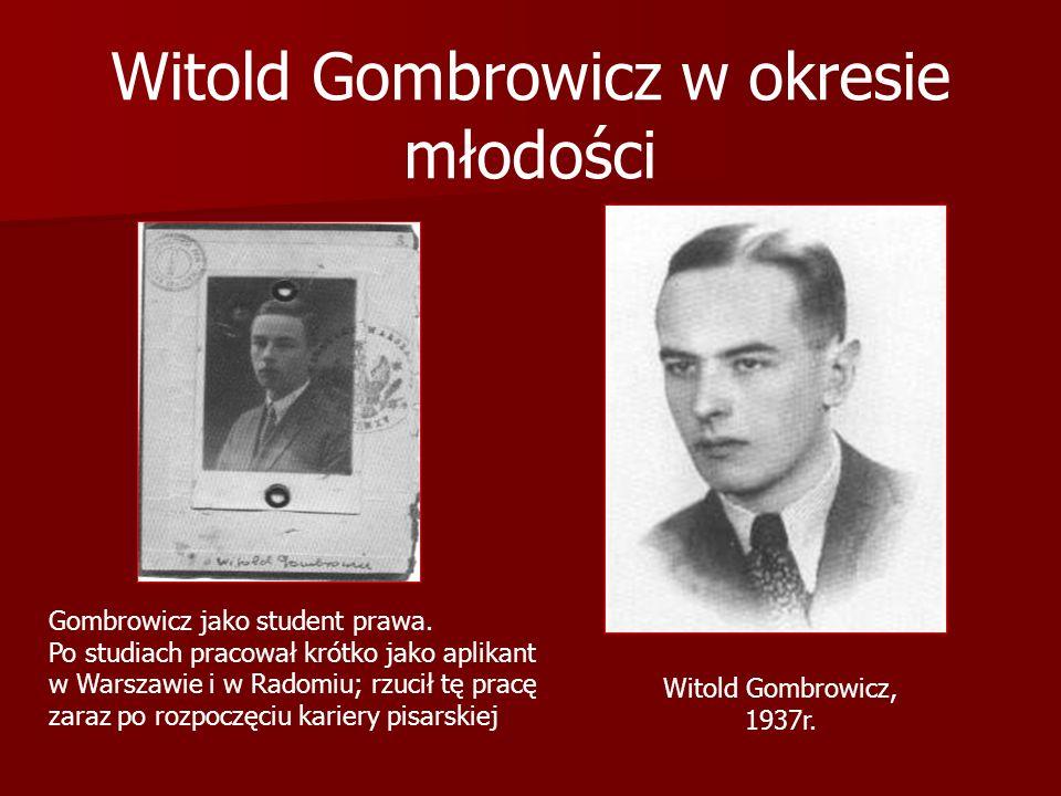 Witold Gombrowicz w okresie młodości