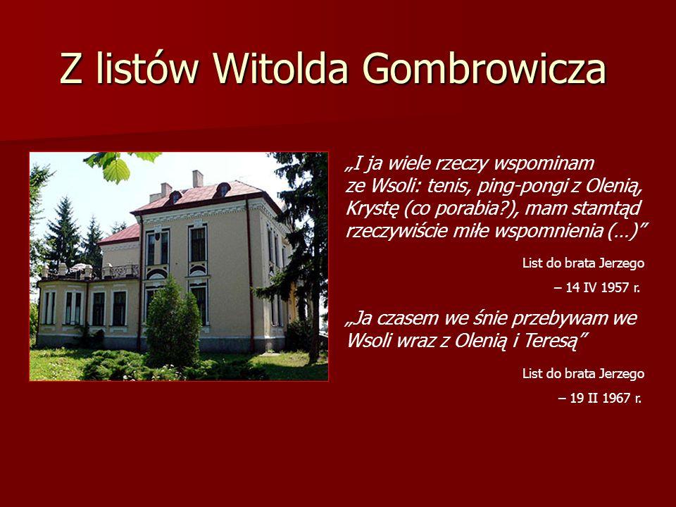 Z listów Witolda Gombrowicza