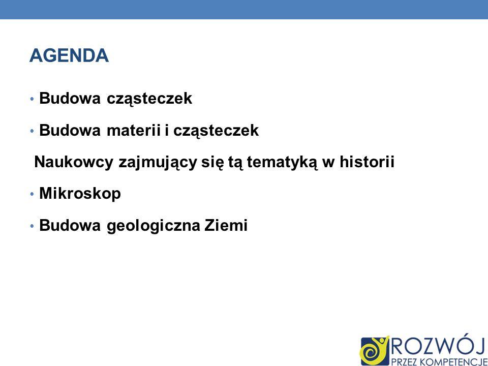 Agenda Budowa cząsteczek Budowa materii i cząsteczek
