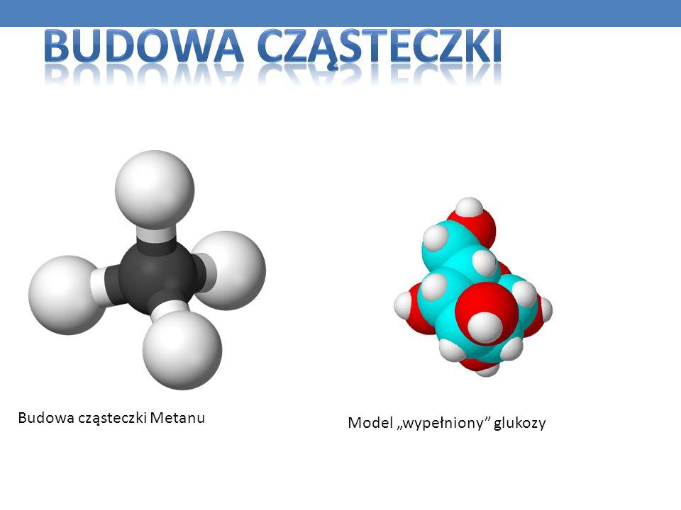 """Budowa cząsteczki Budowa cząsteczki Metanu Model """"wypełniony glukozy"""