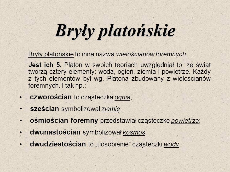 Bryły platońskie sześcian symbolizował ziemię;