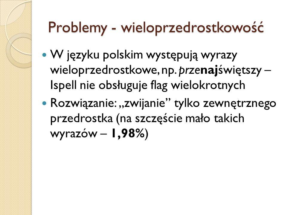 Problemy - wieloprzedrostkowość