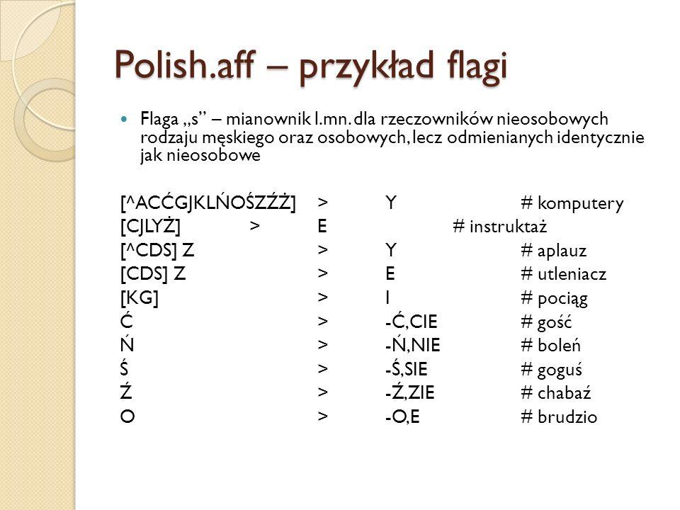 Polish.aff – przykład flagi