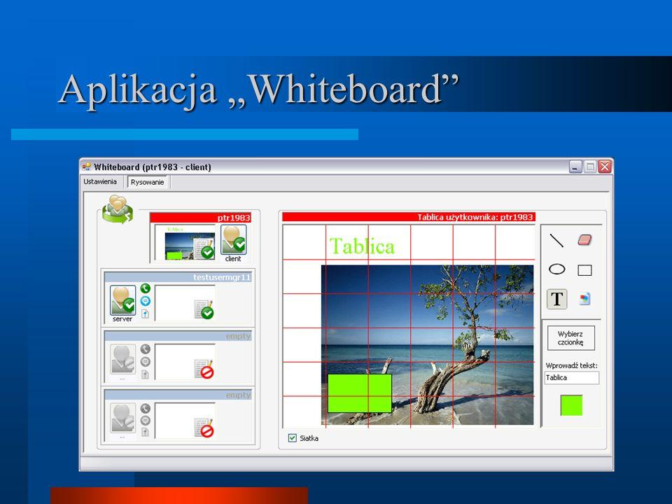"""Aplikacja """"Whiteboard"""