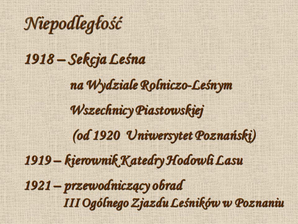 Niepodległość 1918 – Sekcja Leśna na Wydziale Rolniczo-Leśnym