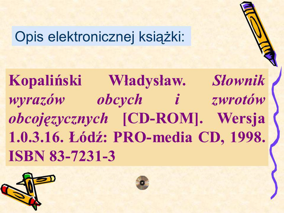 Opis elektronicznej książki: