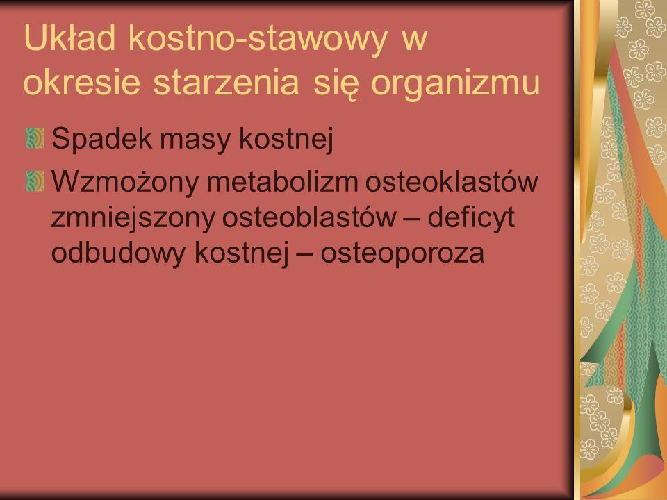 Układ kostno-stawowy w okresie starzenia się organizmu