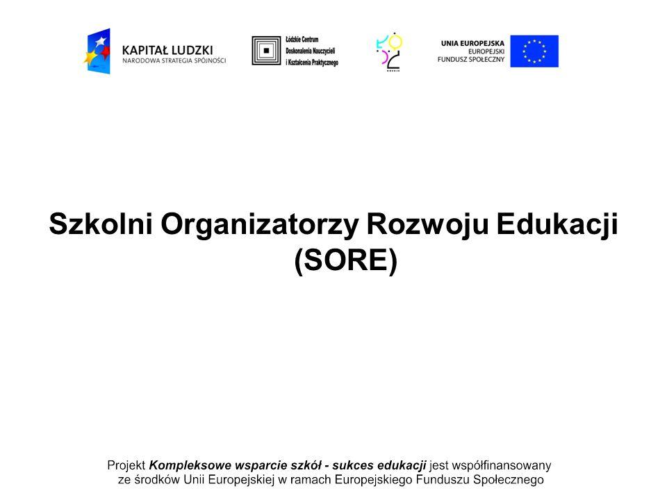 Szkolni Organizatorzy Rozwoju Edukacji (SORE)