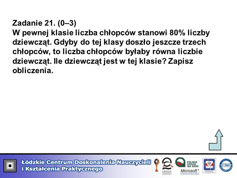 Zadanie 21. (0–3)