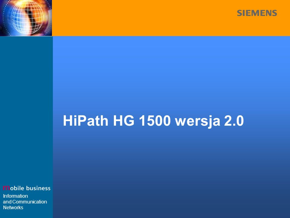 HiPath HG 1500 wersja 2.0
