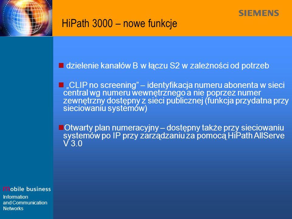 HiPath 3000 – nowe funkcje dzielenie kanałów B w łączu S2 w zależności od potrzeb.