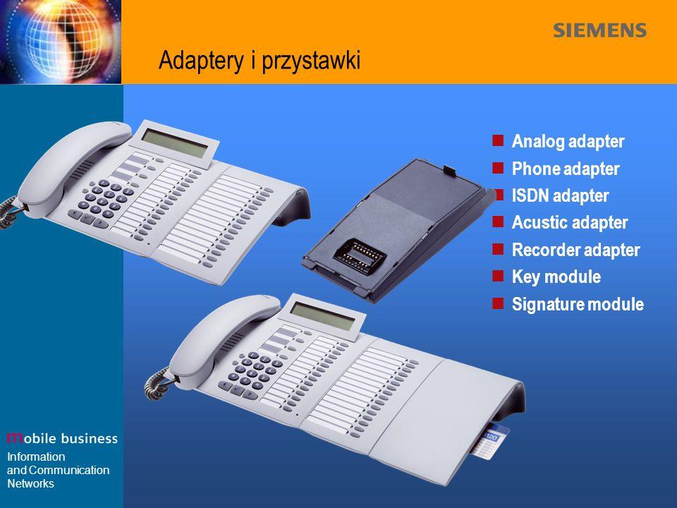 Adaptery i przystawki Analog adapter Phone adapter ISDN adapter