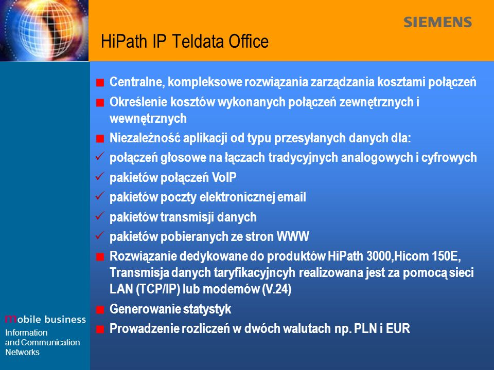 HiPath IP Teldata Office