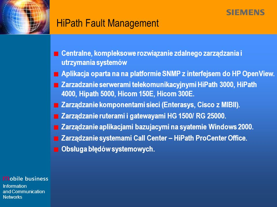 HiPath Fault Management