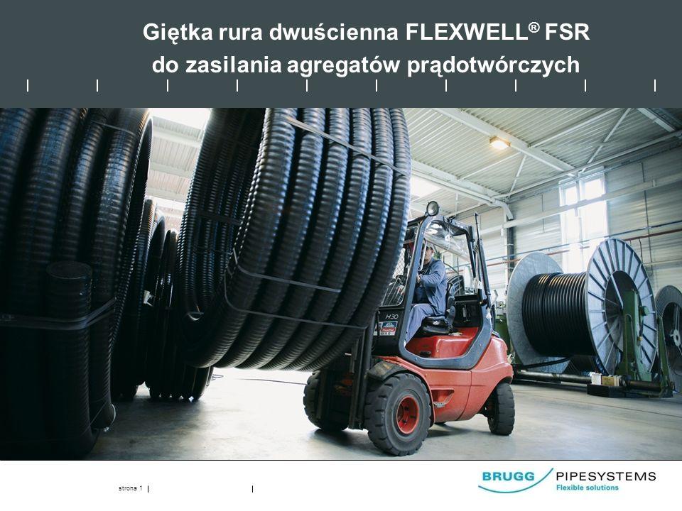 Giętka rura dwuścienna FLEXWELL® FSR do zasilania agregatów prądotwórczych