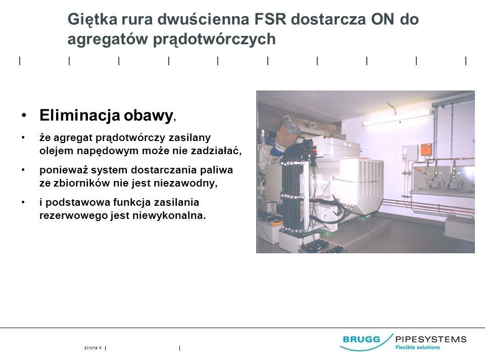 Giętka rura dwuścienna FSR dostarcza ON do agregatów prądotwórczych