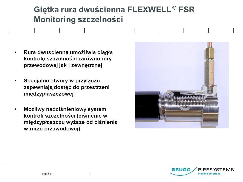 Giętka rura dwuścienna FLEXWELL ® FSR Monitoring szczelności