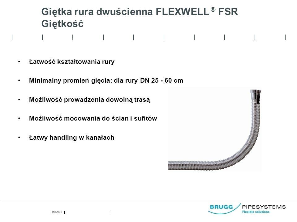 Giętka rura dwuścienna FLEXWELL ® FSR Giętkość