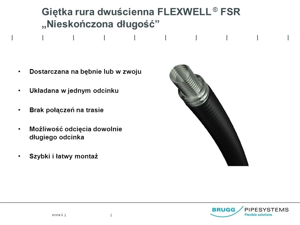 """Giętka rura dwuścienna FLEXWELL ® FSR """"Nieskończona długość"""
