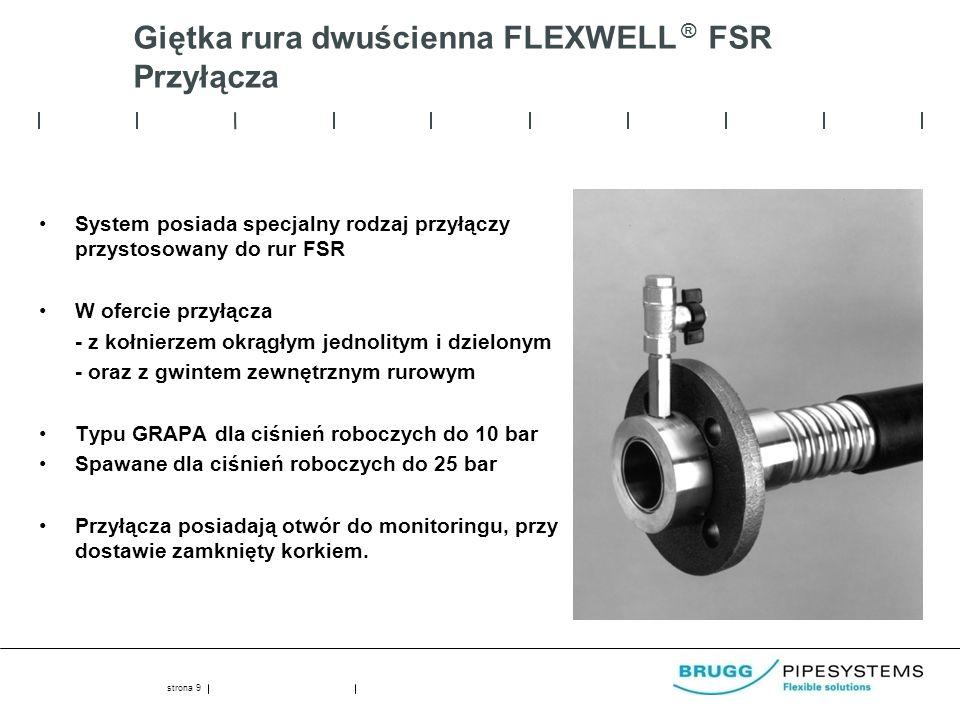Giętka rura dwuścienna FLEXWELL ® FSR Przyłącza