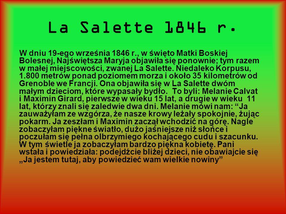 La Salette 1846 r.