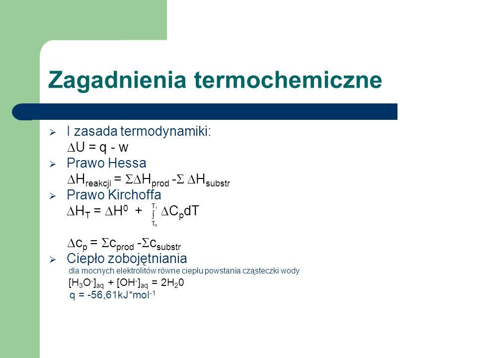 Zagadnienia termochemiczne