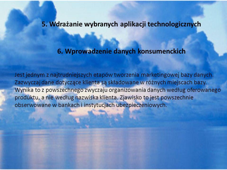 6. Wprowadzenie danych konsumenckich