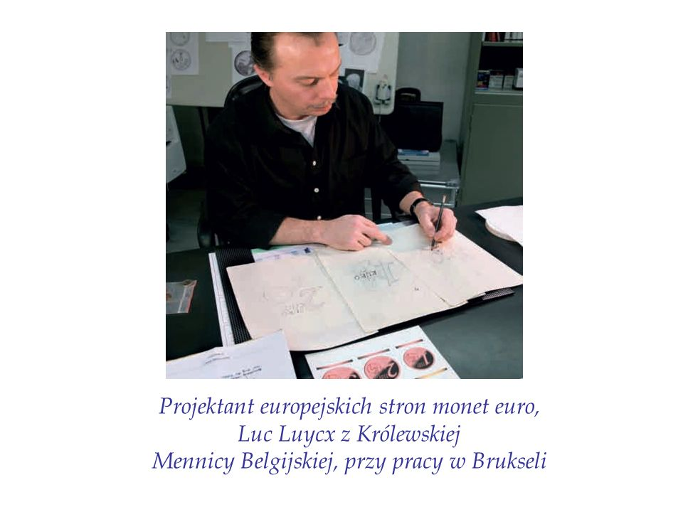 Projektant europejskich stron monet euro, Luc Luycx z Królewskiej