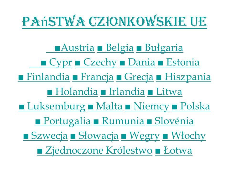Państwa Członkowskie UE