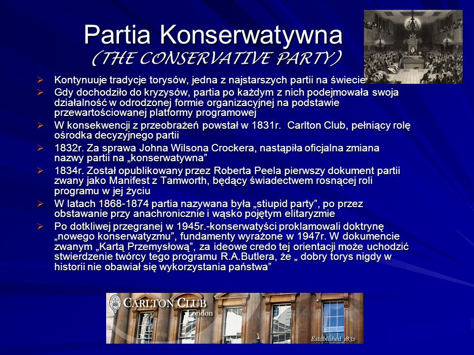 Partia Konserwatywna (THE CONSERVATIVE PARTY)