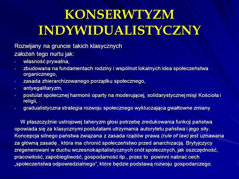KONSERWTYZM INDYWIDUALISTYCZNY