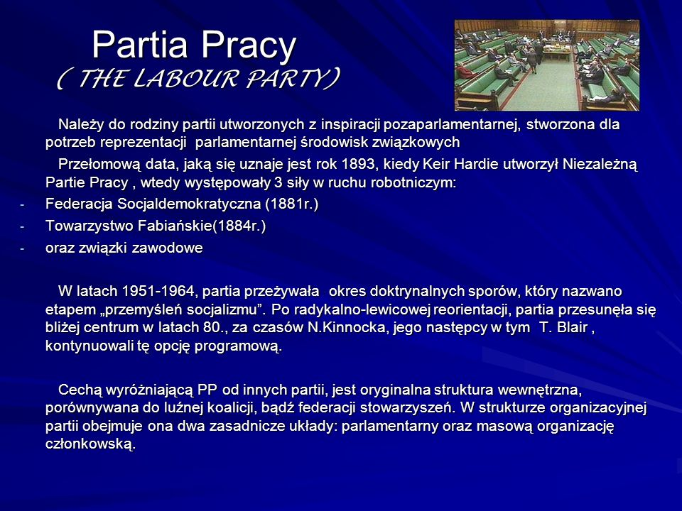 Partia Pracy ( THE LABOUR PARTY)