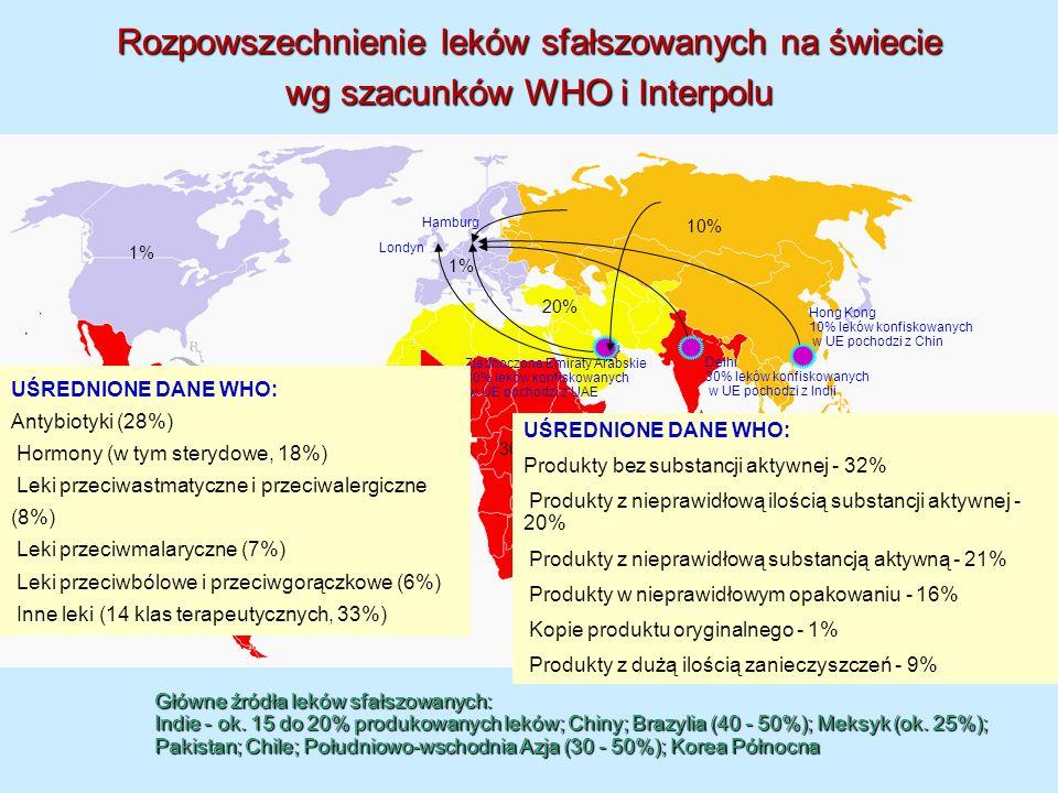 Rozpowszechnienie leków sfałszowanych na świecie