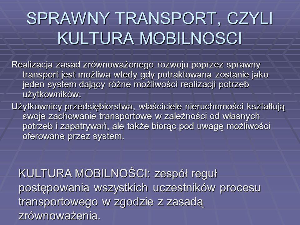 SPRAWNY TRANSPORT, CZYLI KULTURA MOBILNOSCI