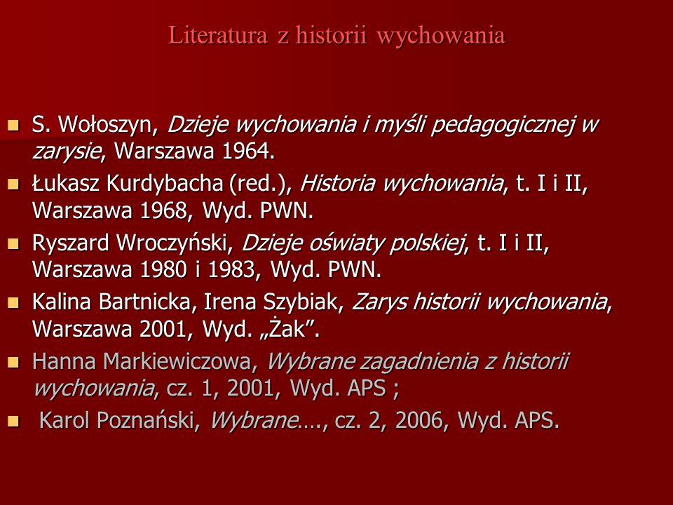 Literatura z historii wychowania