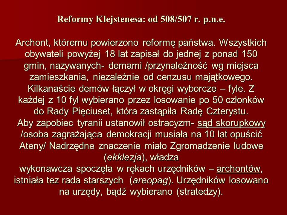 Reformy Klejstenesa: od 508/507 r. p. n. e