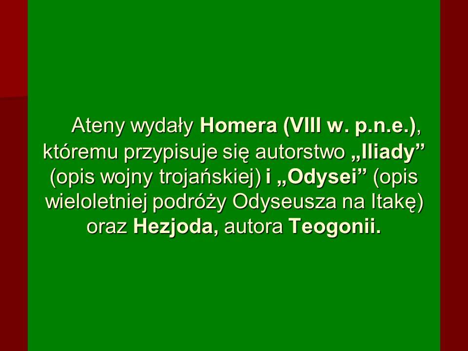 Ateny wydały Homera (VIII w. p. n. e
