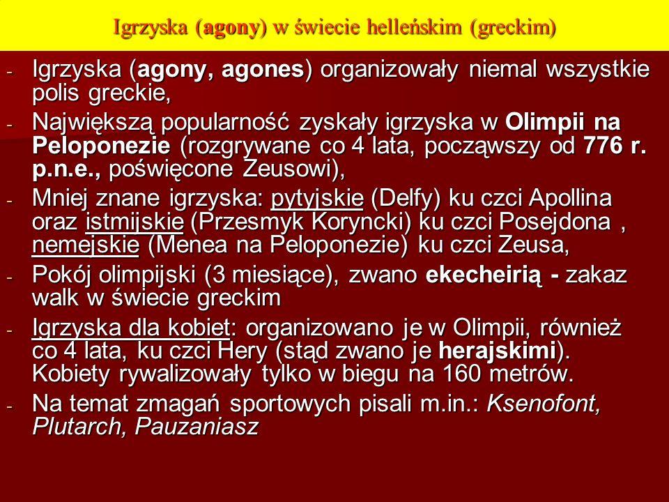 Igrzyska (agony) w świecie helleńskim (greckim)