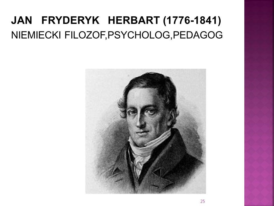 JAN FRYDERYK HERBART (1776-1841)