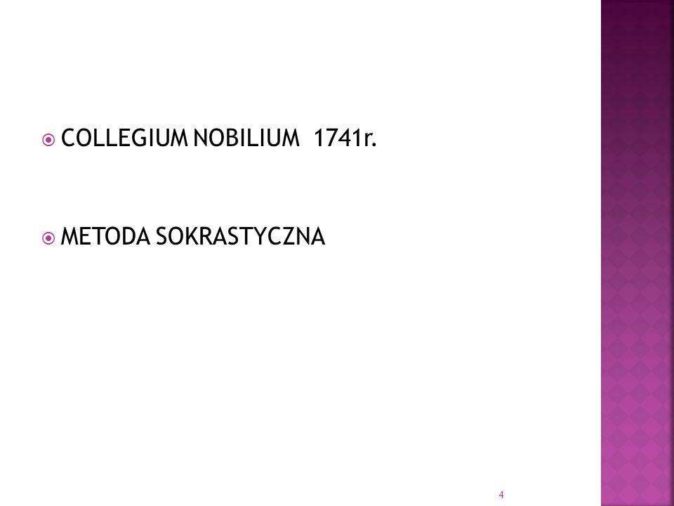 COLLEGIUM NOBILIUM 1741r. METODA SOKRASTYCZNA