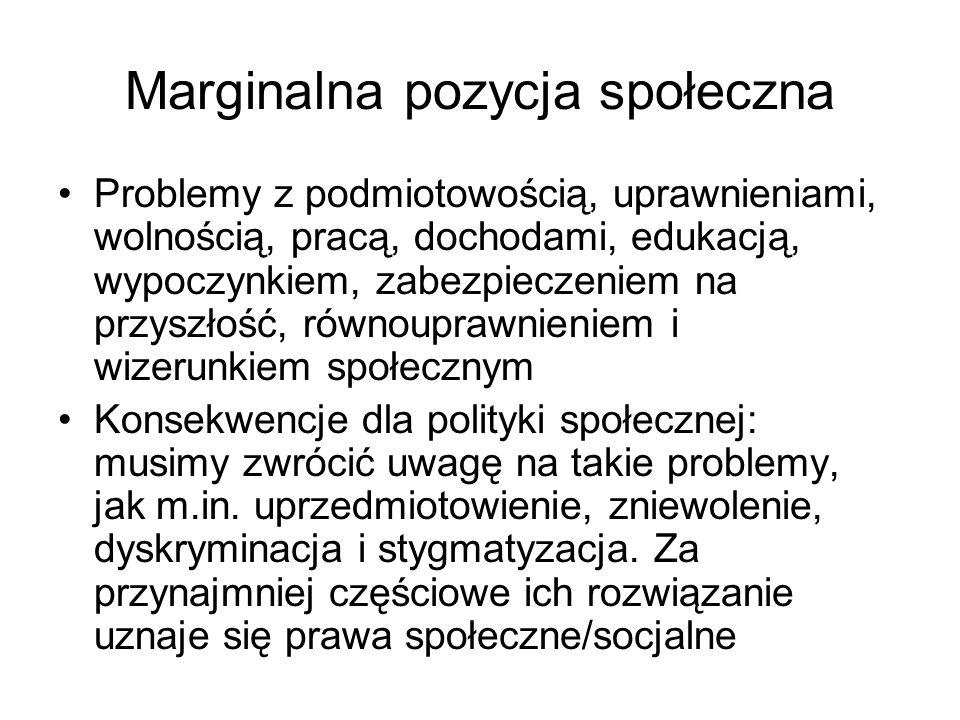 Marginalna pozycja społeczna