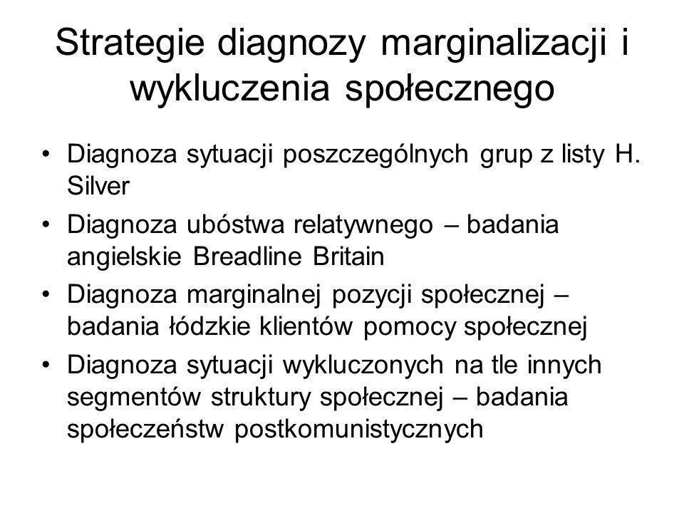 Strategie diagnozy marginalizacji i wykluczenia społecznego