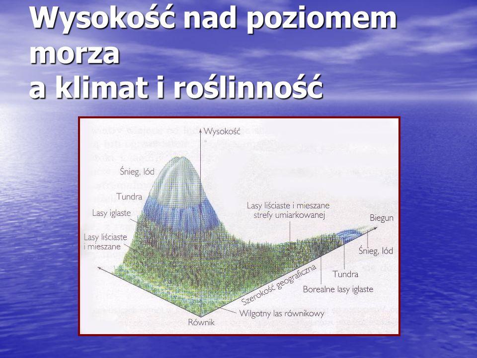 Wysokość nad poziomem morza a klimat i roślinność