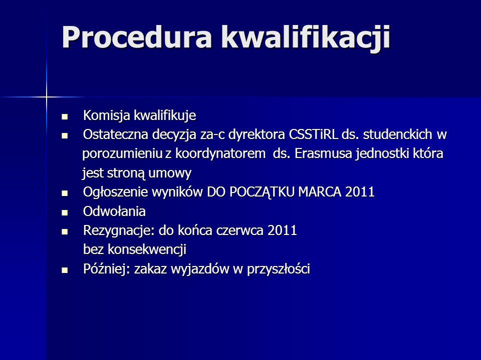 Procedura kwalifikacji