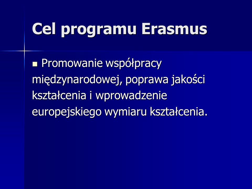 Cel programu Erasmus Promowanie współpracy