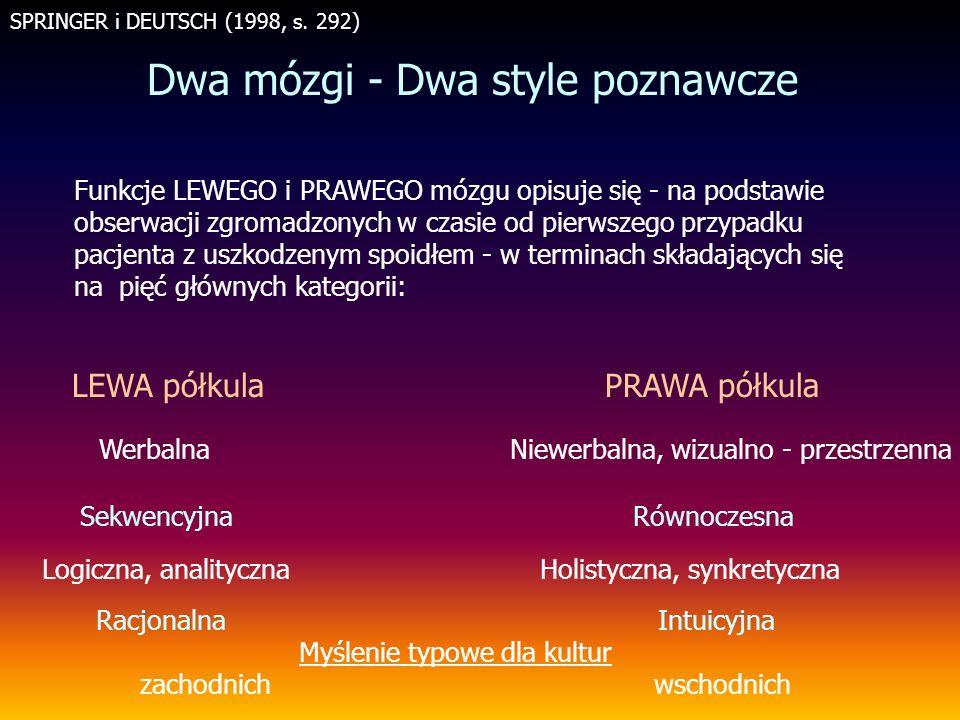 Dwa mózgi - Dwa style poznawcze