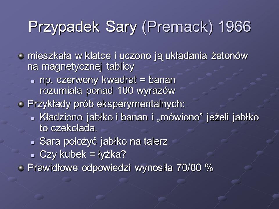 Przypadek Sary (Premack) 1966
