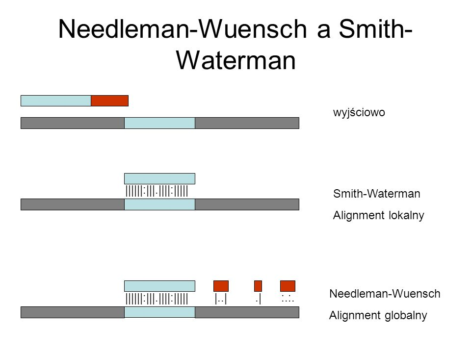 Needleman-Wuensch a Smith-Waterman